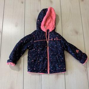 girls 24 months zeroxposur winter jacket navy pink
